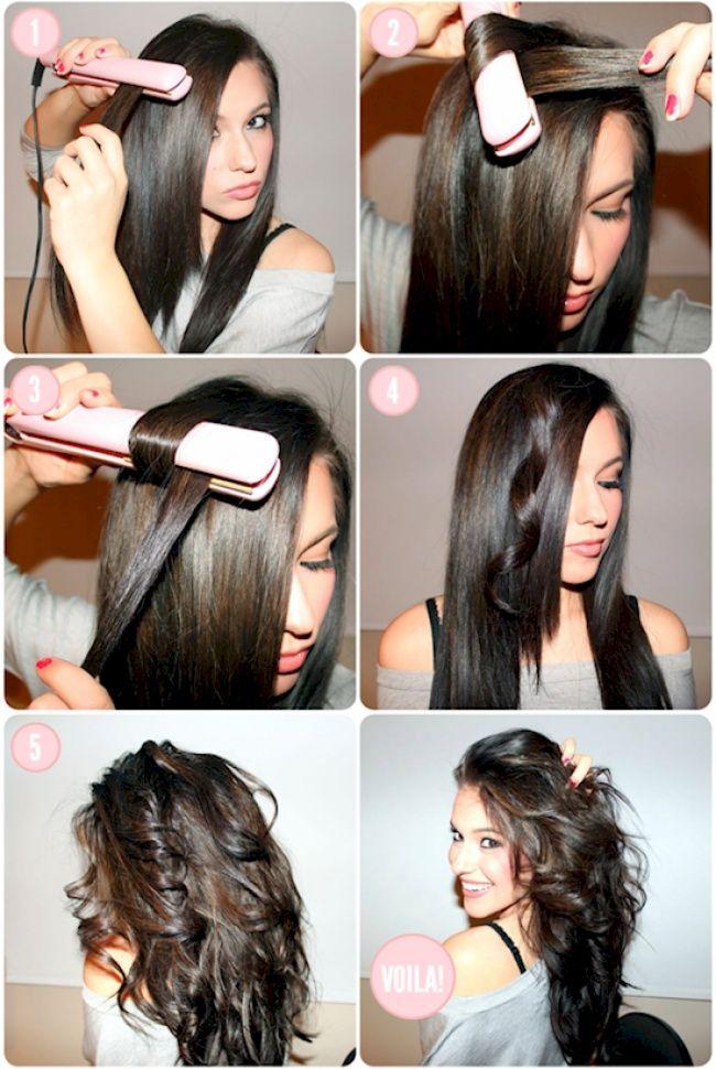 Como planchar el pelo rizado corto