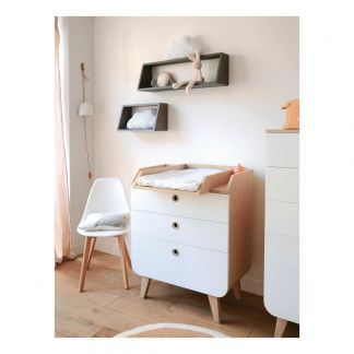 Table langer noga blanc table langer chambre b b - Table a langer murale autour de bebe ...