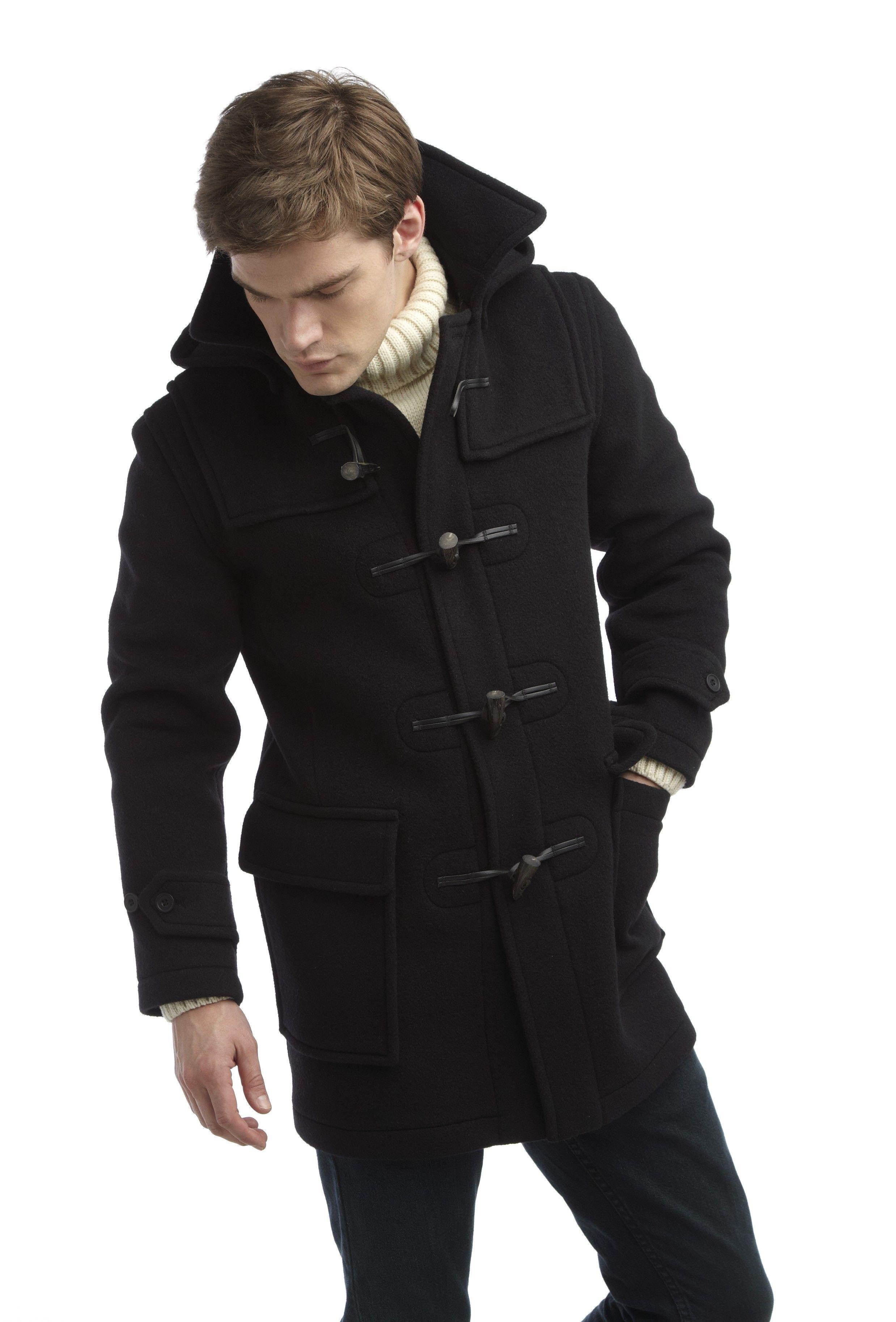77af390730fb Mens London Duffle Coat -- Navy - Mens Classic Duffle Coat by Original  Montgomery Made in Britain