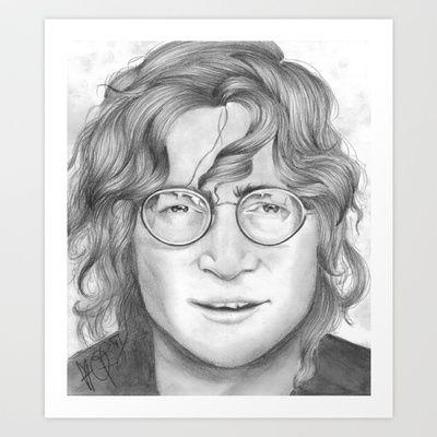 John Lennon Portrait  Art Print by livigrace16 - $16.64
