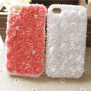 Lace Rose Pearls Phone Case Diy Cell Phone Case Diy Deco Phone Case Kit Iphone Case Deco Kit Iphone 4 4s Iphone 5 Sum Diy Phone Case Diy Phone Phone Covers Diy