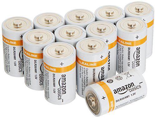 Amazonbasics D Cell Everyday Alkaline Batteries 12 Pack Https Www Amazon Com Dp B00mh4qkp6 Ref Cm Sw R Pi Alkaline Battery Batteries Charger Accessories