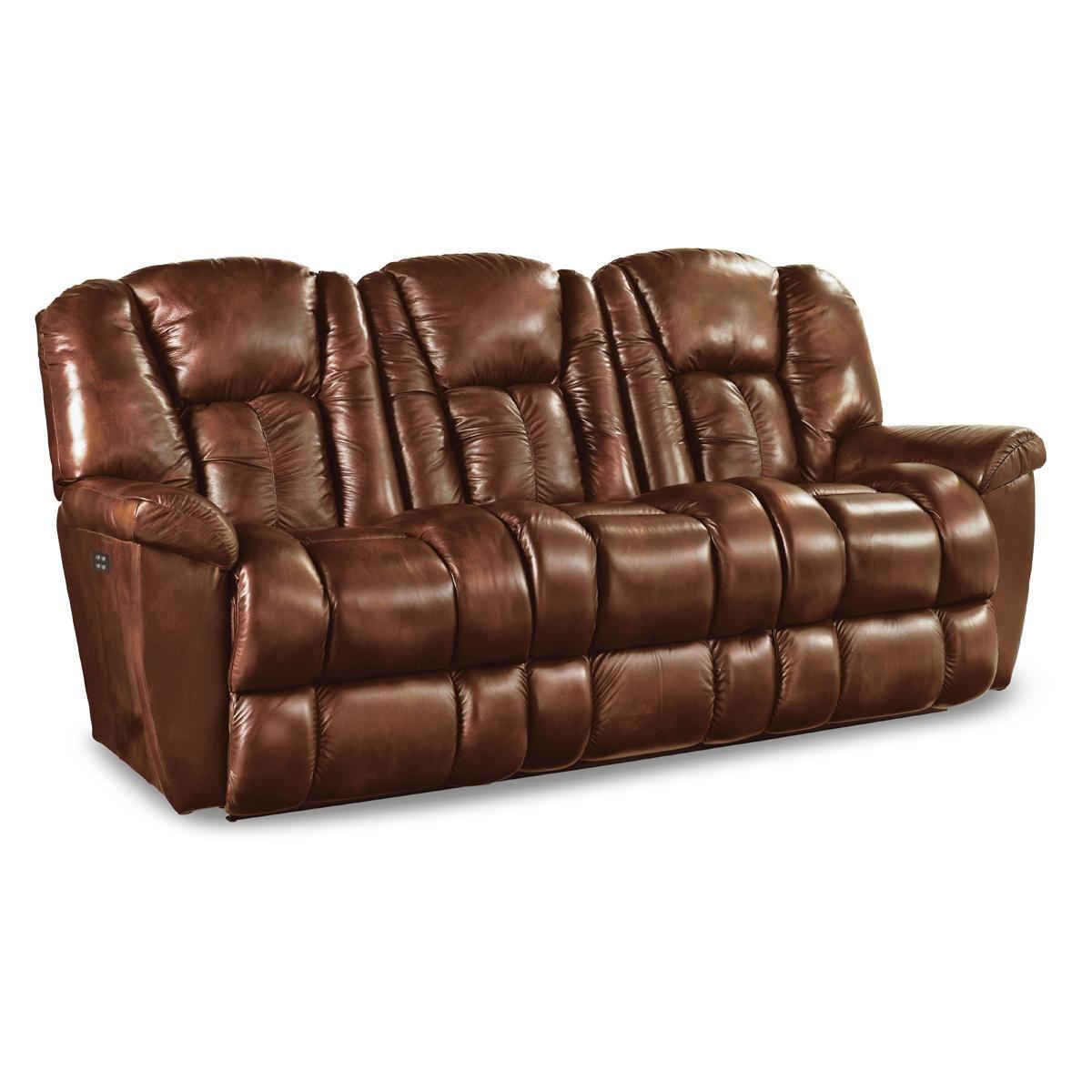 La-Z-Boy Power Leather Motion Sofa in Brown | Nebraska ...