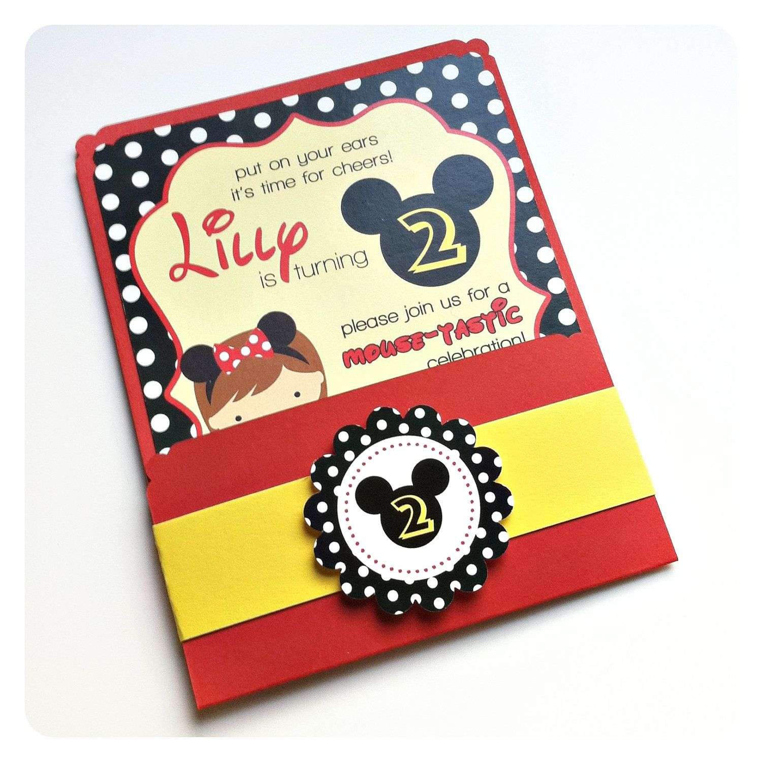 Mickey Mouse party invitation | Cayden\'s 2nd Birthday | Pinterest