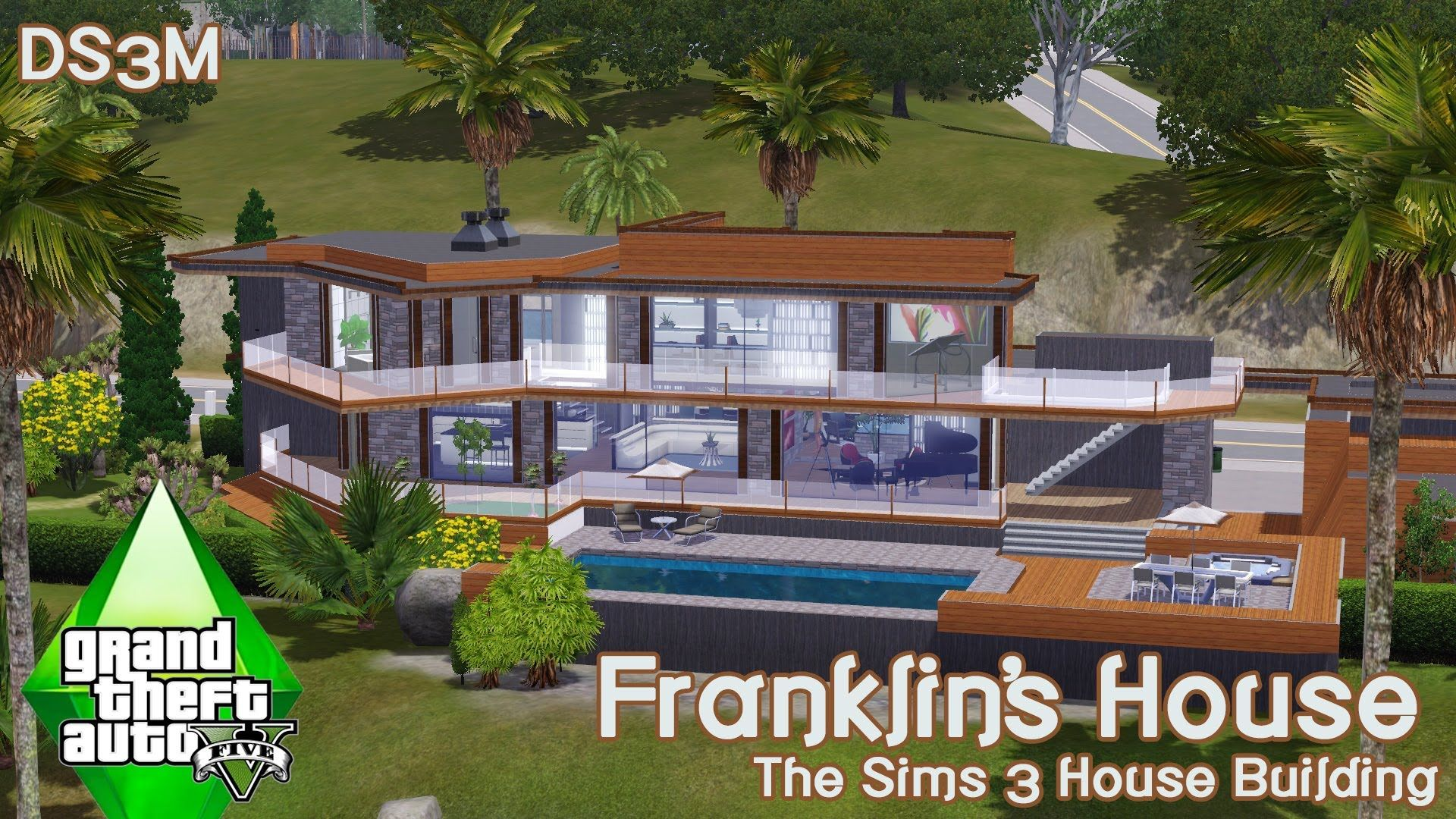 The Sims 3 House Building Franklin S House Gta V The