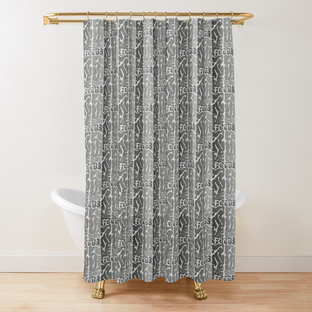 focus shower curtain by nikdrag patterned shower curtain designer shower curtains damask pattern