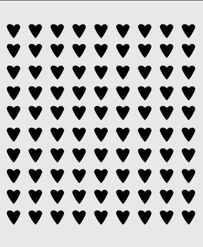 Heart Stencil Mini Hearts Background Pattern Template Templates Craft Scrapbook New 8 X 10