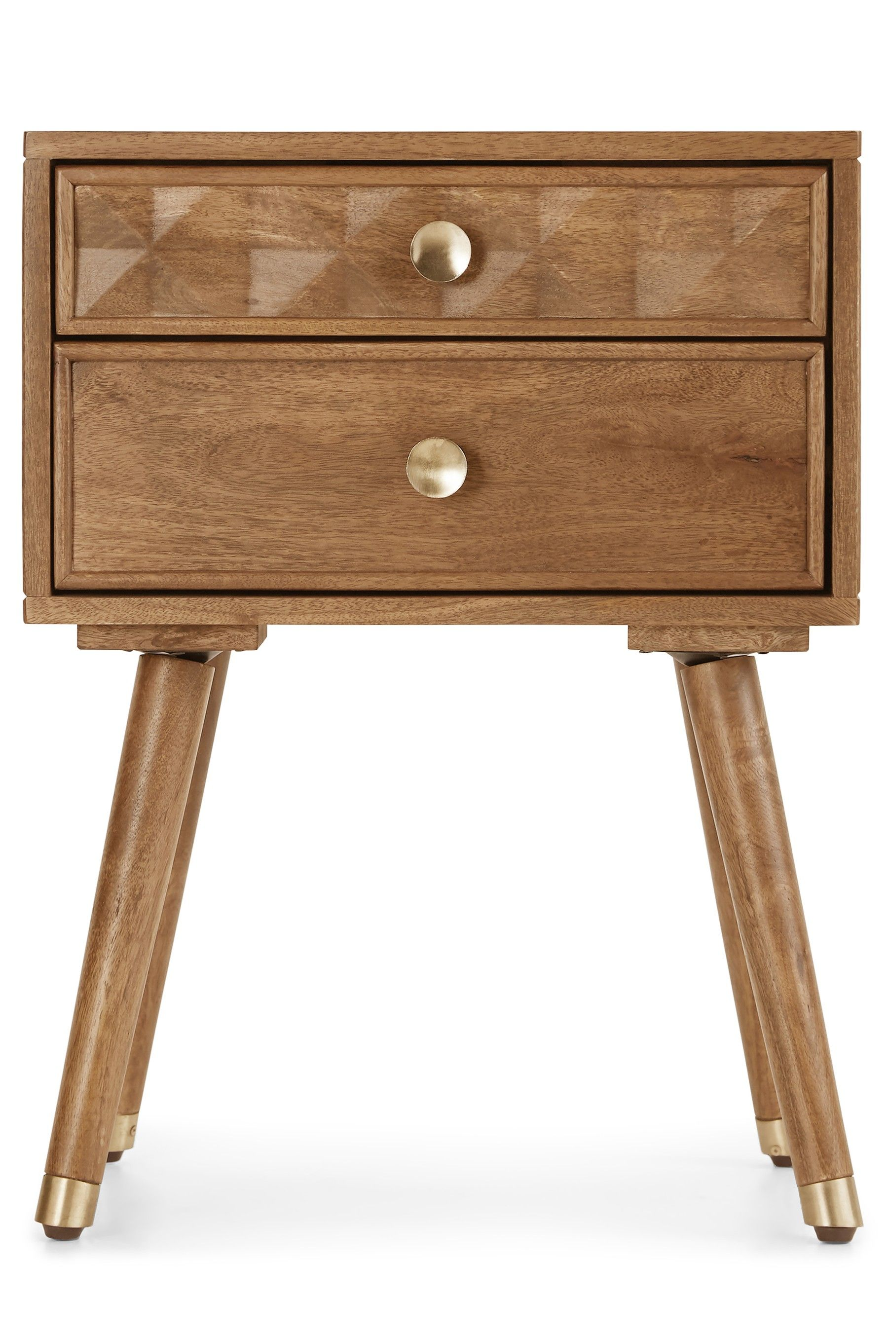Next Lloyd 2 Drawer Bedside Table Brown Bedside Table Brown