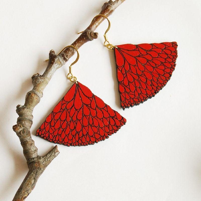 SEMIABANICO - red earrings