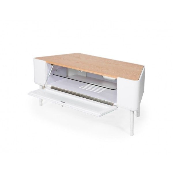 Pad Tv Stand In White Light Oak By Stil Furniture Up To 50 Tvs