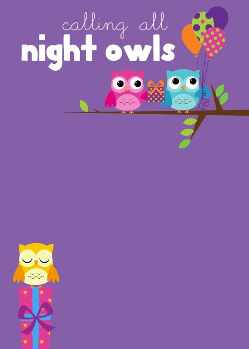 Printables For Owl Themed Sleepover Party Freebies Pinterest - best of birthday invitations sleepover party