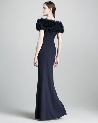 Tadashi Shoji Rosette-Top Gown - Neiman Marcus | Mother of the Bride ...