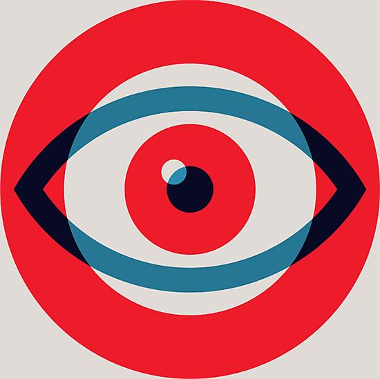 Design United Illustrations By Allan Peters Inspiration Grid Eye Illustration Illustration Design Eye Logo