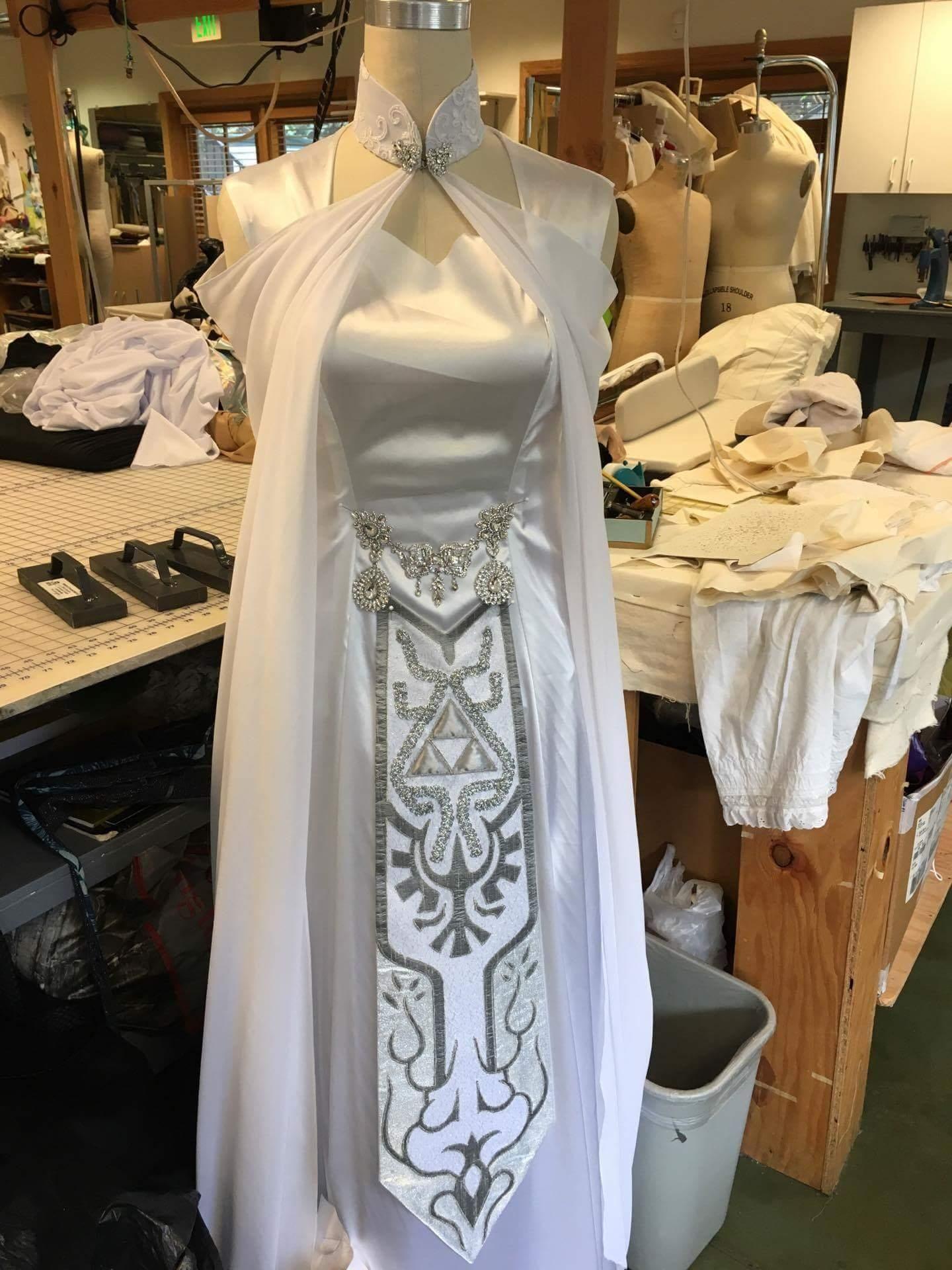 I M Getting Married In December And Having My Dress Custom Made Here S The Progress Zelda Dress Zelda Wedding Fantasy Dress