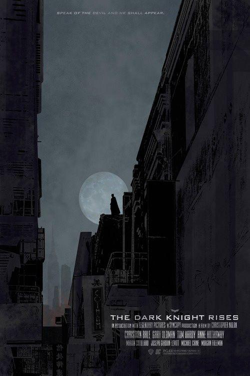 Alternative movie poster for Batman The Dark Knight Rises by HardenedInk