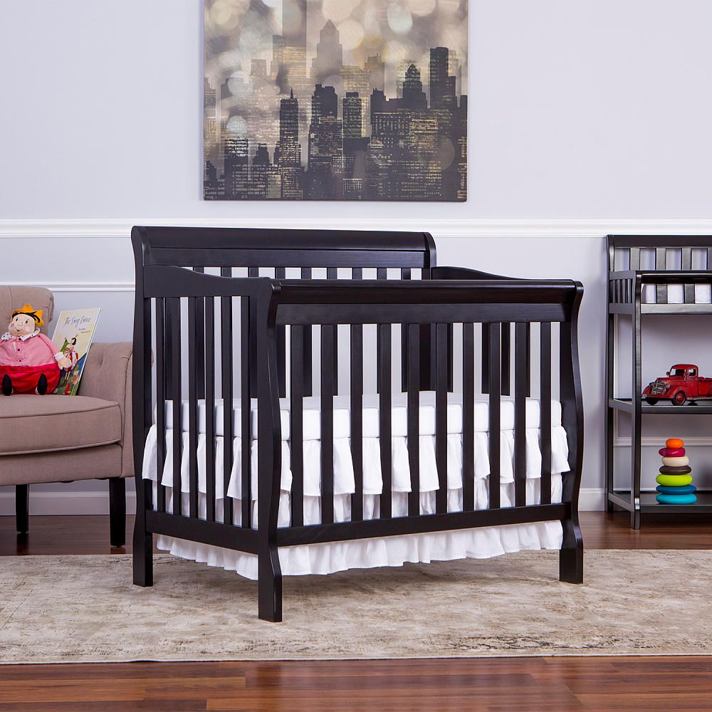 cribs in convertible baby nursery itm toddler black new furniture mini bed crib