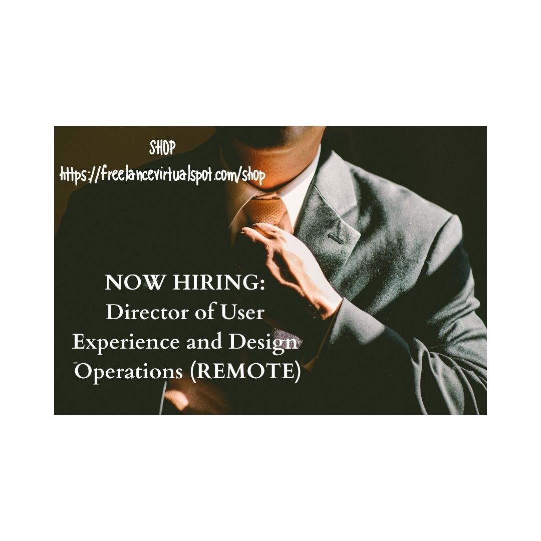 NOW HIRING Director of User Experience and Design