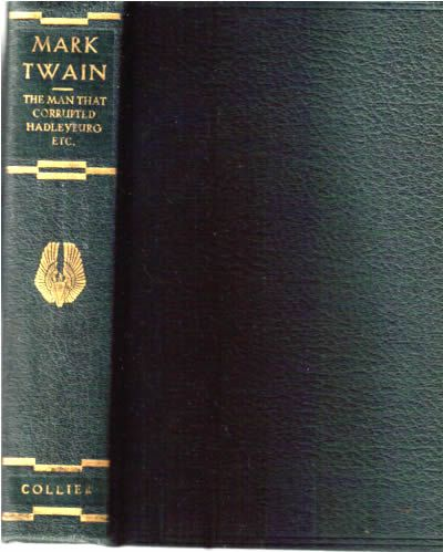Mark Twain Collier green cloth binding