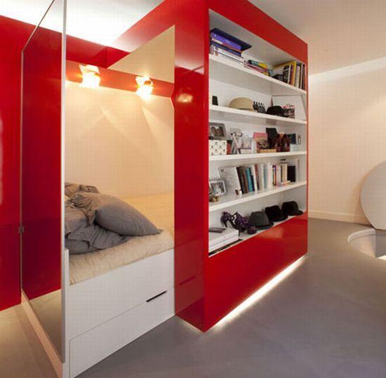 Swanky bed cupboard.