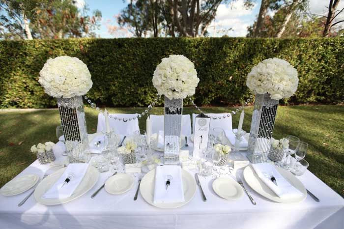 Diamonds In The Garden Wedding Styling Glam Pinterest