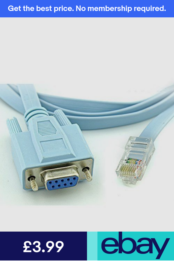 1.5M RJ45 Male to 9 Pin RS232 RS232 DB9 Female Plug LAN