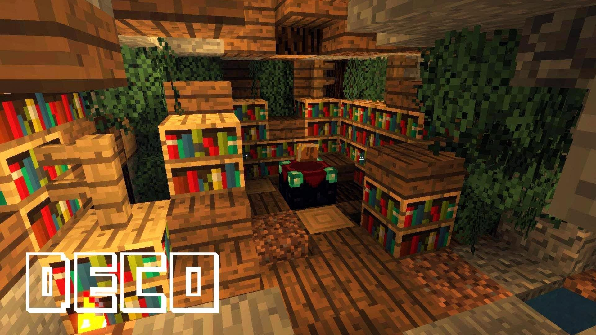 Minecraft Creer Une Bibliotheque Ancienne Minecraft Minecraft Architecture Minecraft Medieval