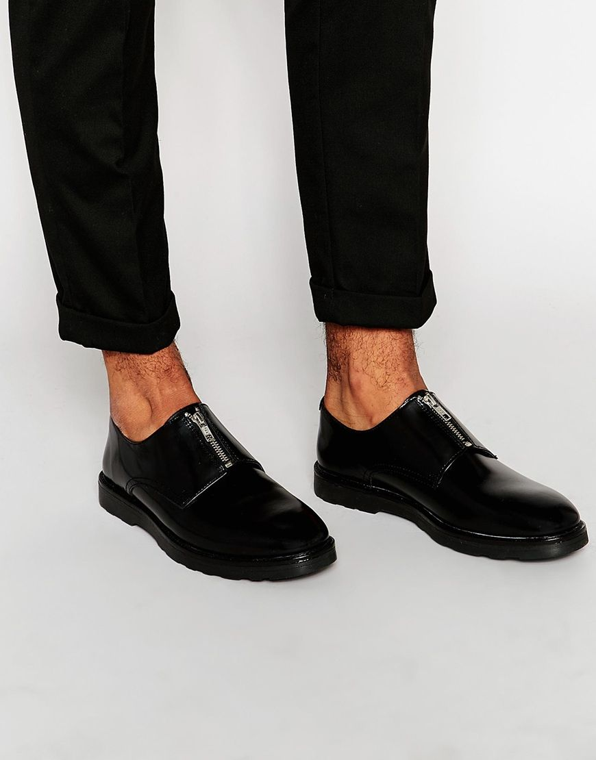 Buy Men Shoes / Asos Canvas Shoes With Zipper In Black