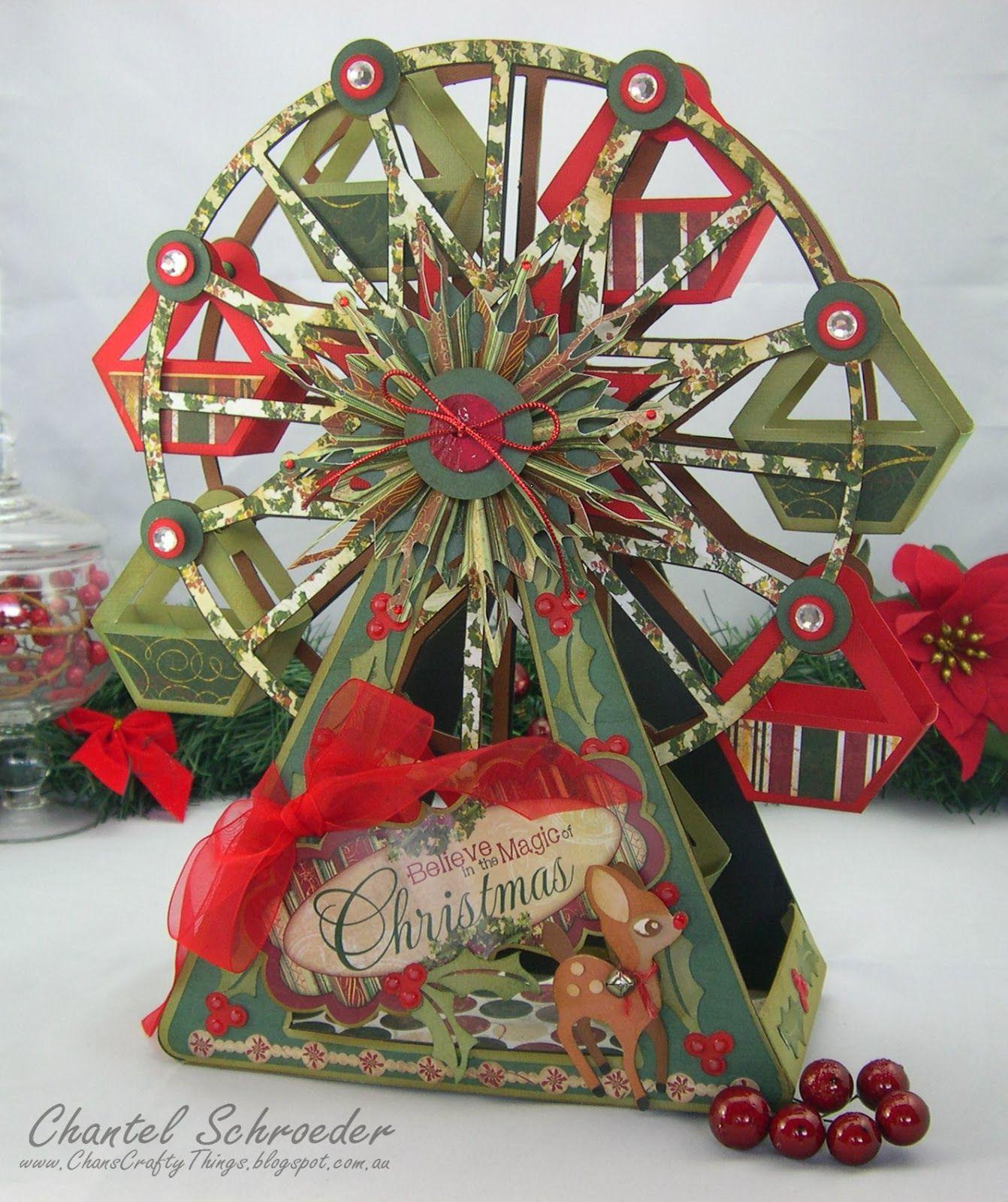 Chans Crafty Things Christmas Ferris Wheel