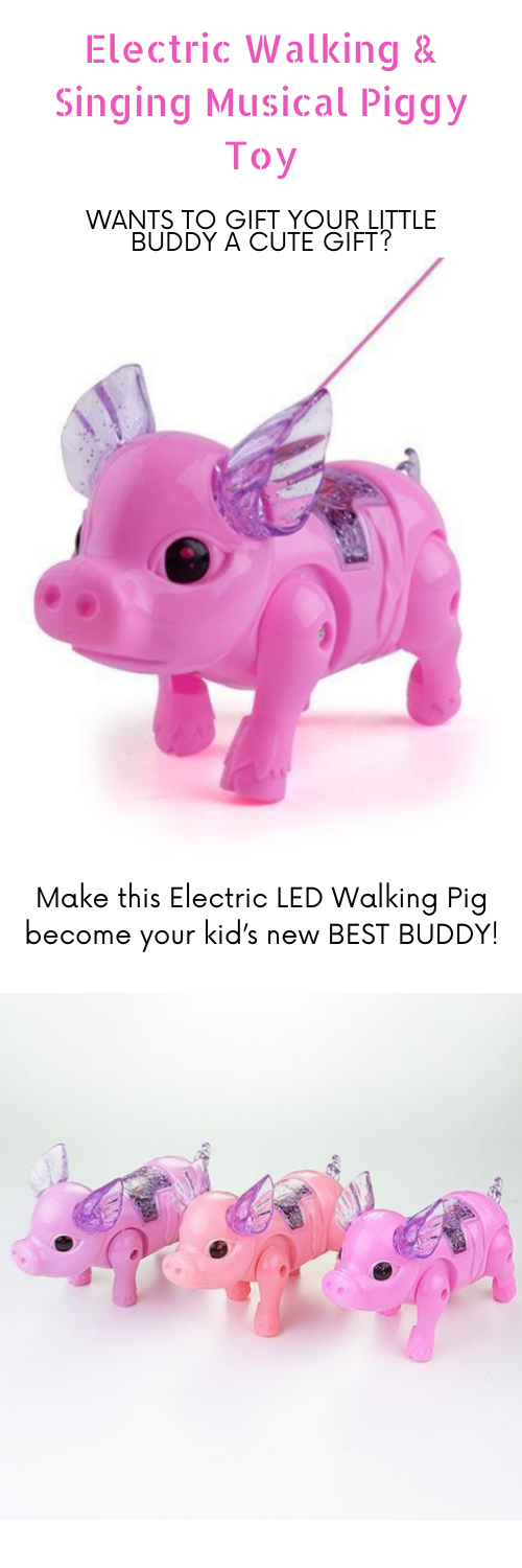 FDA Approval Electric Singing Musical Light Pig Toy with Leash Interactive Kids Baby Toddler Christmas Birthday Toy KOqwez33 Lovely Walking Pink Piggy Toy