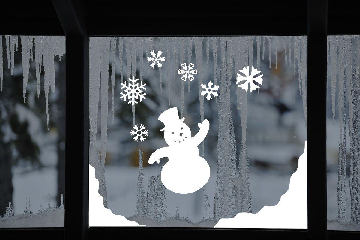 1//2Pcs Christmas Snowflakes Wall Decal Window Art Sticker Xmas Home Party Decor