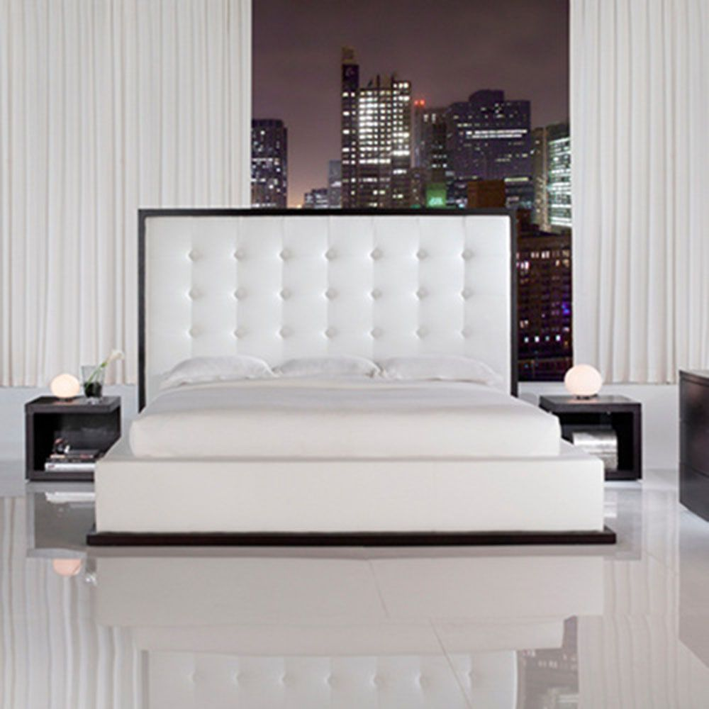 Bedroom Ideas Leather Bed luxury white bedroom design - interior design, architecture and