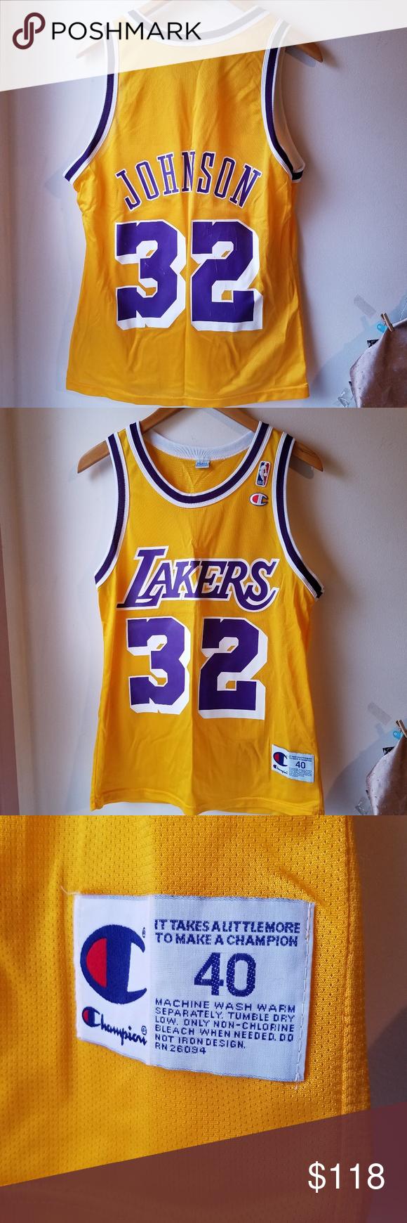 Magic Johnson Lakers Gold Purple Jersey Magic Johnson Purple Gold Magic Johnson Lakers