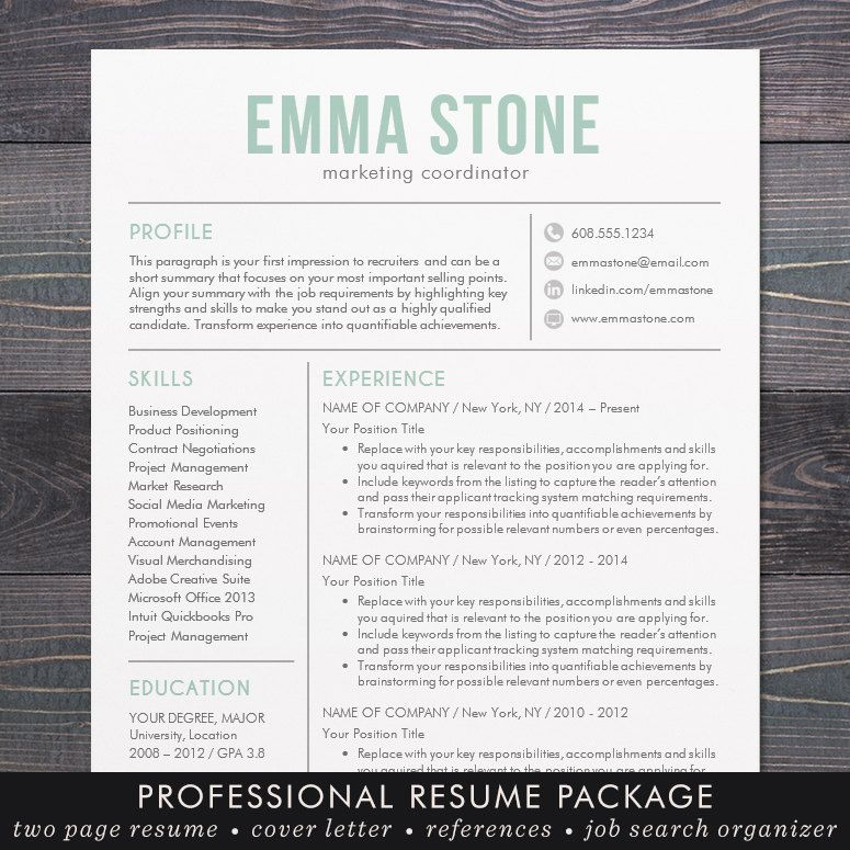 Creative Resume Template Modern Design Mac by TheShineDesignStudio - microsoft office resume templates for mac