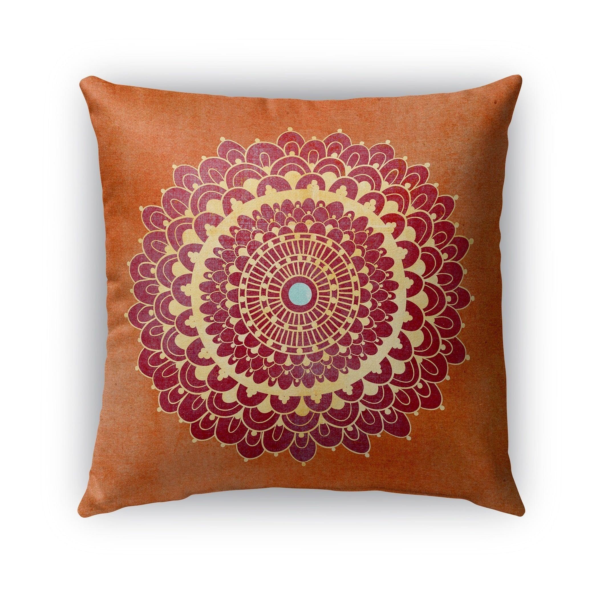 26X26 Pillow Insert Kavka Designs Orange Red Yellow Blue Boomboom Outdoor Pillow