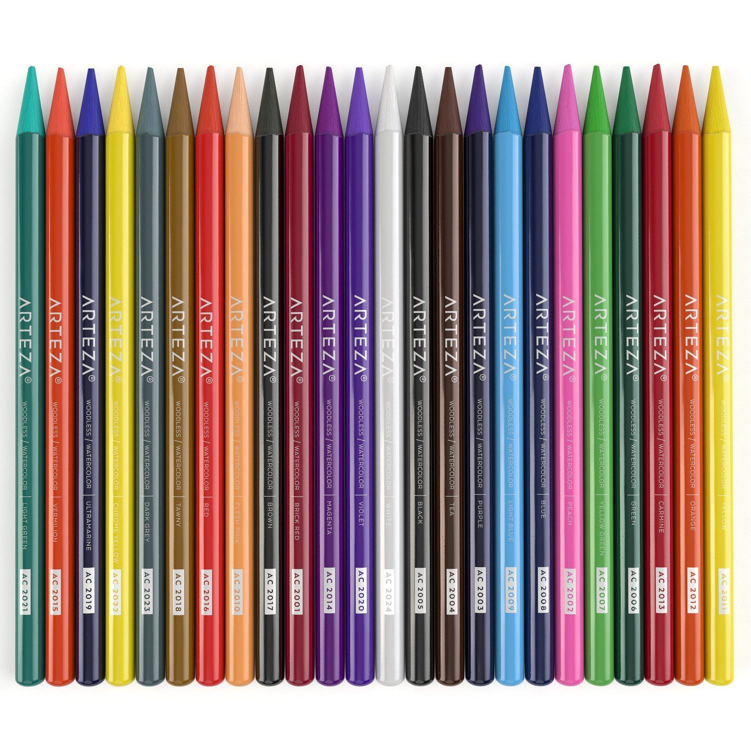 Arteza Woodless Watercolor Pencils Set Of 24 Pencil Drawings