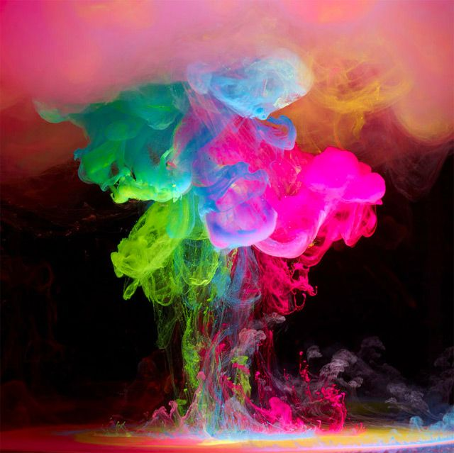 Aqueous Electro: New Underwater Ink Photos by Mark Mawson - Design Stories Social Network