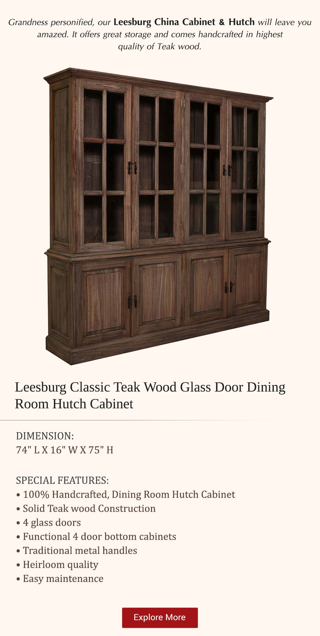Pin On Home Goodies, Teak Dining Room Hutch