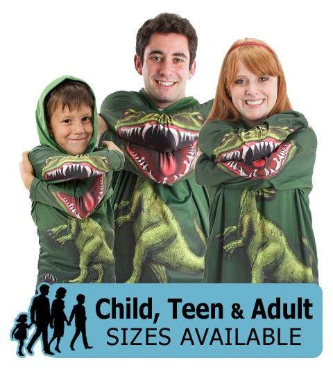 Mouth Man Raptor Dinosaur Hoodie Graphic Shirt