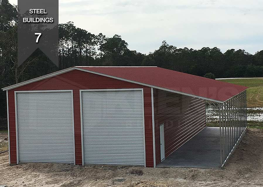 Steel Building Specifications 24x41x14 2 12 12 Doors 1 36 80 Door 1 12 Wide Lean To Steel Buildings Building Outdoor Structures