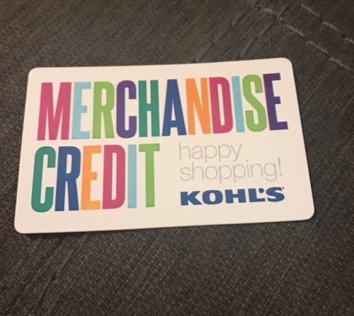 #Coupons #GiftCards KOHL'S MERCHANDISE CREDIT / GIFT CARD