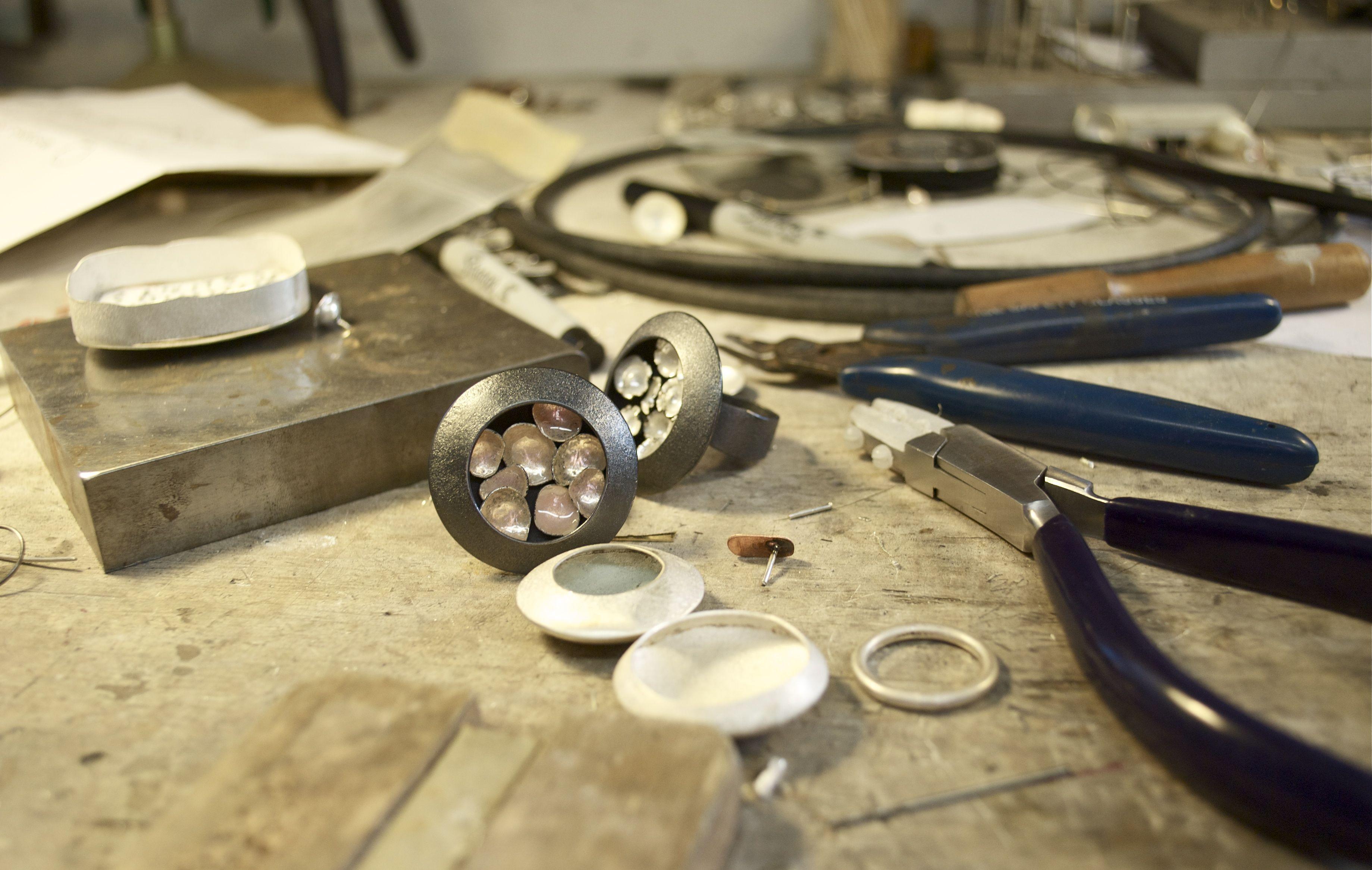 Christy Klug, Artist, studio table and tools #artiststudio #tools