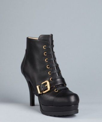 Fendi Leather Lace-Up Booties cheap sale official outlet free shipping authentic cheap for sale discount limited edition buy cheap footaction r2FrF