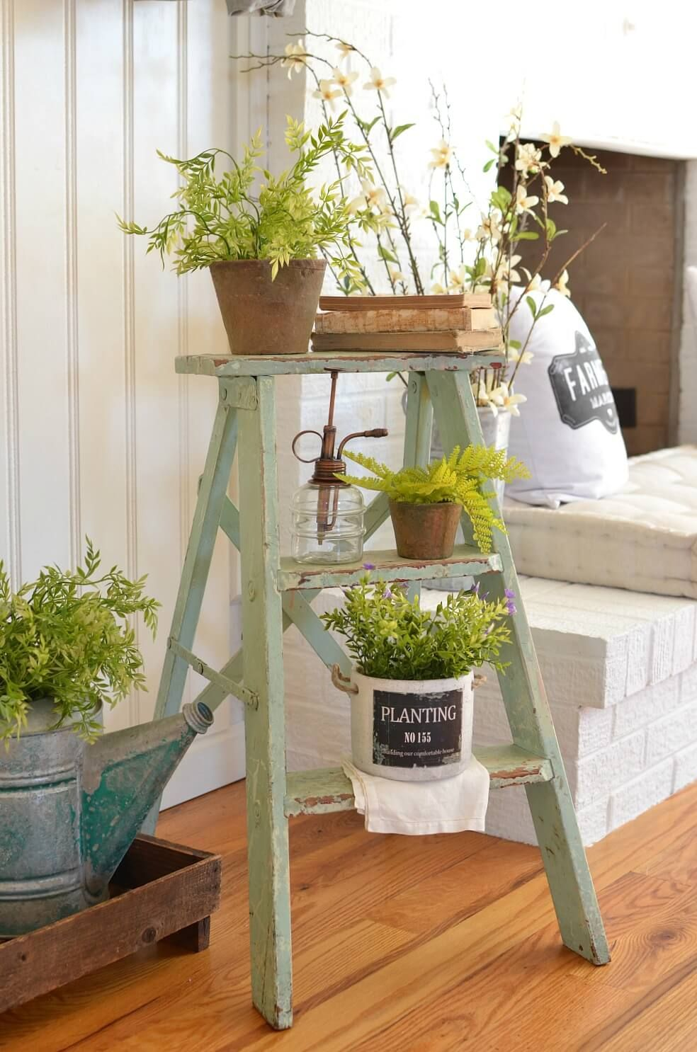 lovely farmhouse plant decor ideas to add a touch of nature to