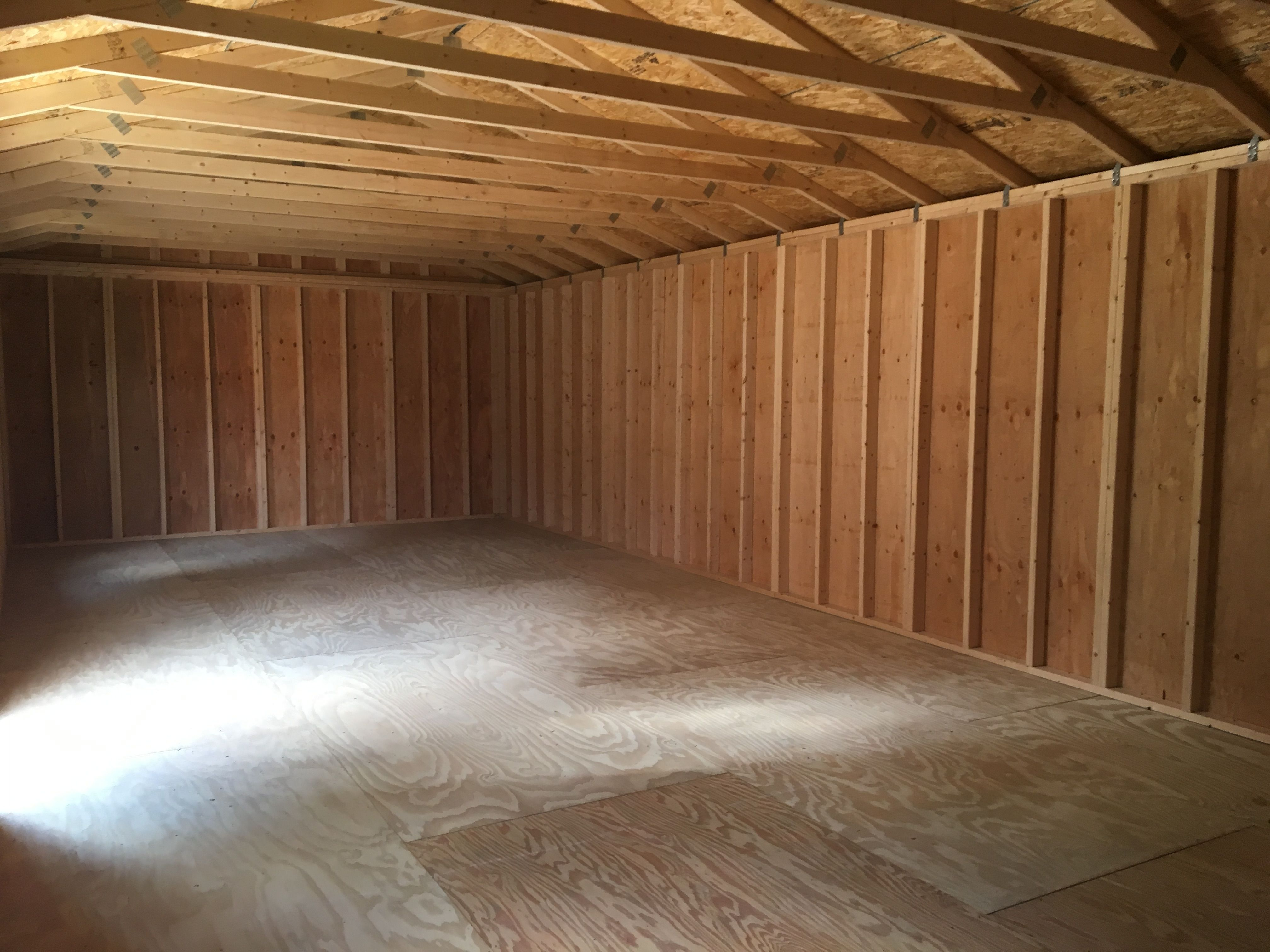 16x36 garden shed interior | currently inventory in 2019