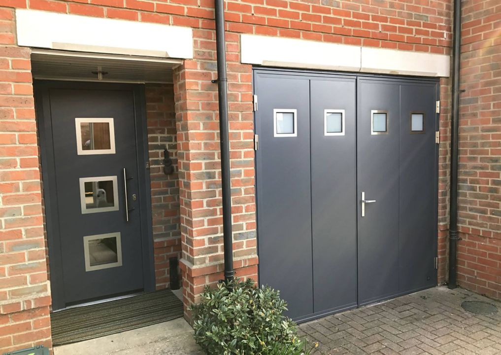 Matching Front Garage Doors From One Manufacturer Www Ryternagaragedoors Co Uk Matchingdesign Frontdoor Garagedo Garage Doors Front Door