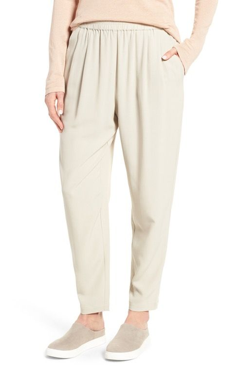 Main Image - Eileen Fisher Tapered Trousers (Regular & Petite ...
