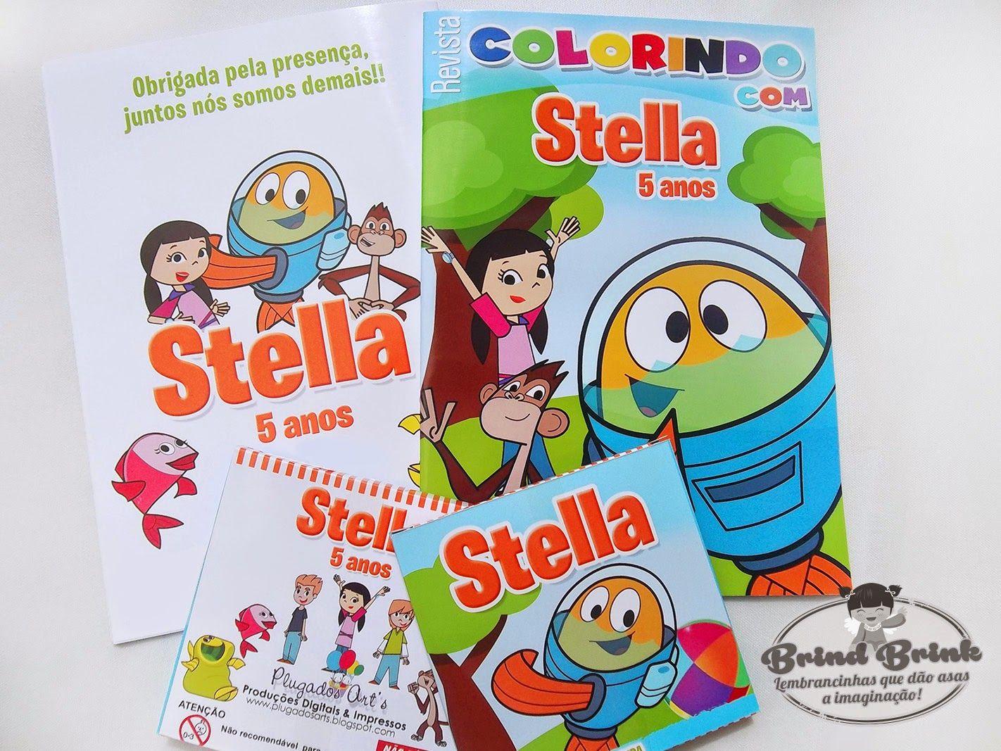 Brind Brink - Lembrancinhas Personalizadas. Peixonauta, Kit Colorir, Festa  Infantil