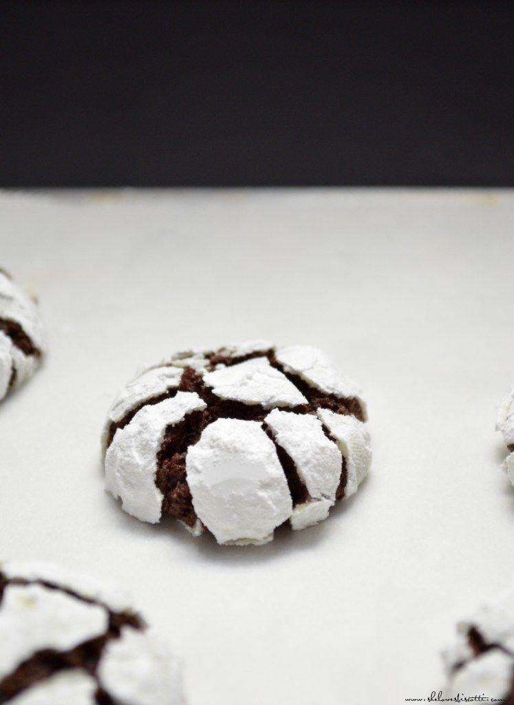 Decadent Dark Chocolate Espresso Snowcap Cookies