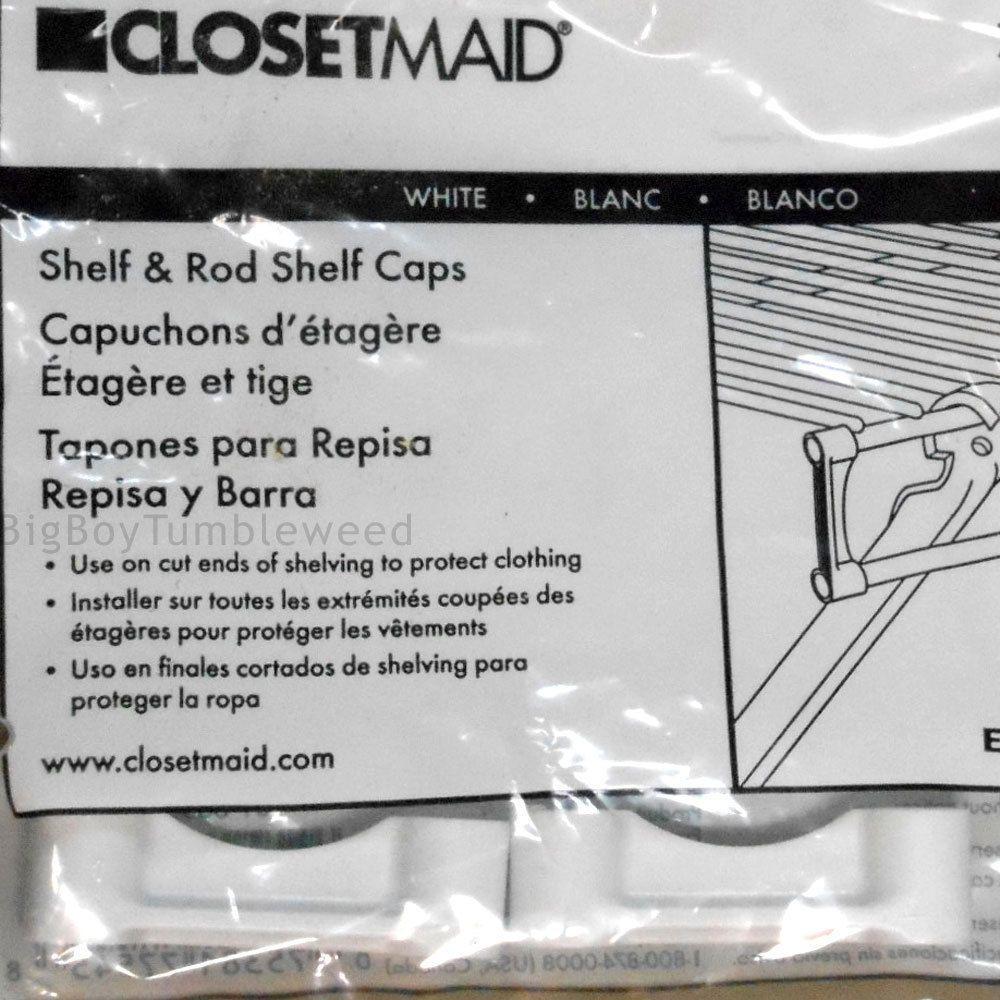 CLOSETMAID White Shelf U0026 Rod Shelf Caps 77545 Hardware For Storage Shelves  PARTS #Emerson #