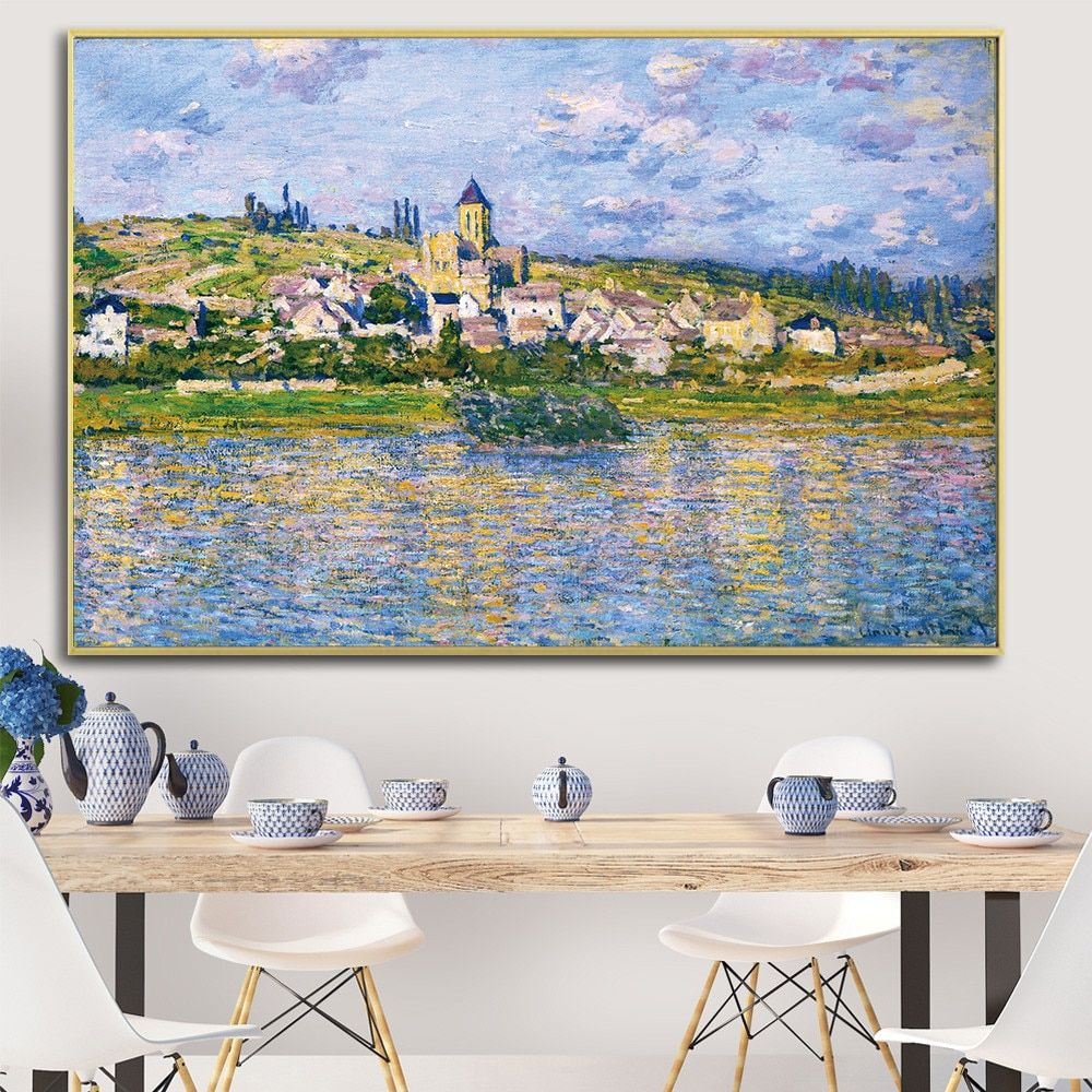 Home Decor Canvas Print Picture Wall Art Claude Monet Flowers Painting Nordic Style Watercolo Canvas Art Wall Decor Wall Art Living Room Wall Art Canvas Prints